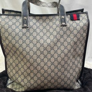 Limited Edition Large Blue Gucci Shopper